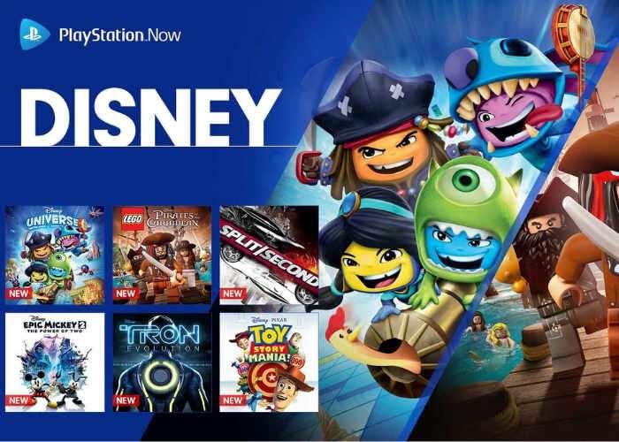 PS Now Disney Games