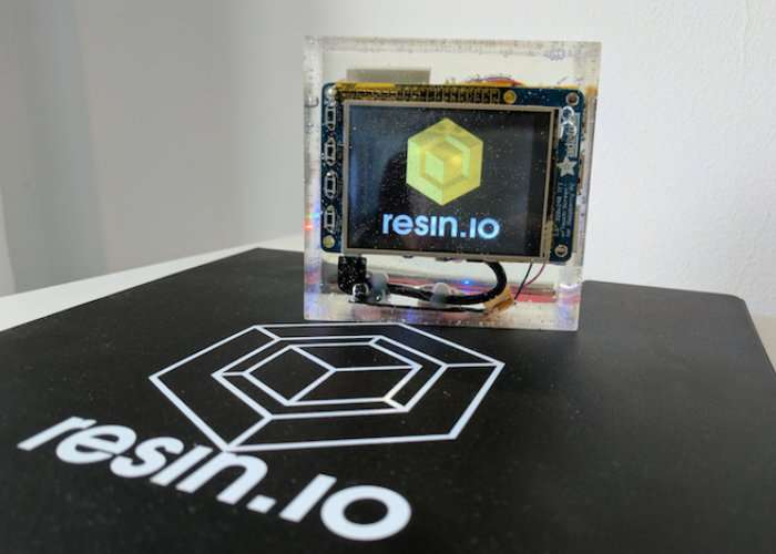Raspberry Pi And Display Encased In Resin