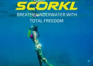 SCORKL Personal Underwater Breathing System (video)