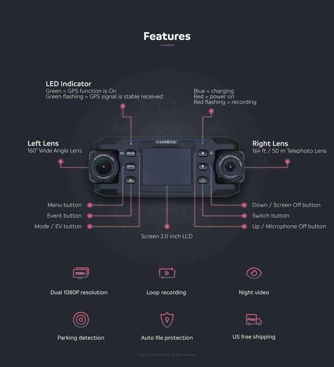 UltraDuo Z2 Dual-lens Dashcam-1