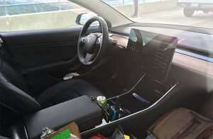 Tesla Model 3 Interior Spied Online