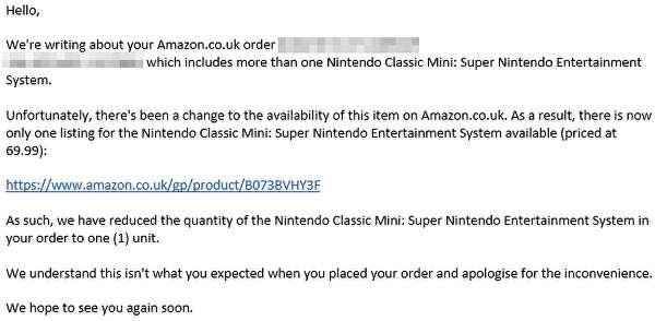 Amazon Nintendo SNES Mini