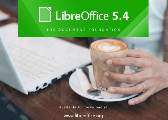 Free Office Suite LibreOffice 5.4