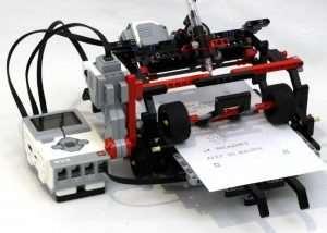 LEGO Telegraph Machine and Printer (video)