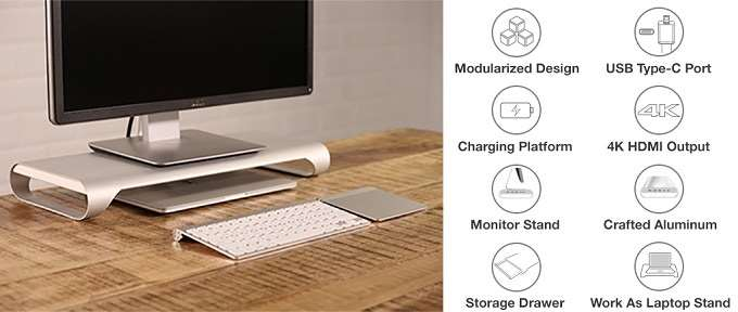 MacBook Pro Monitor Stand Dock