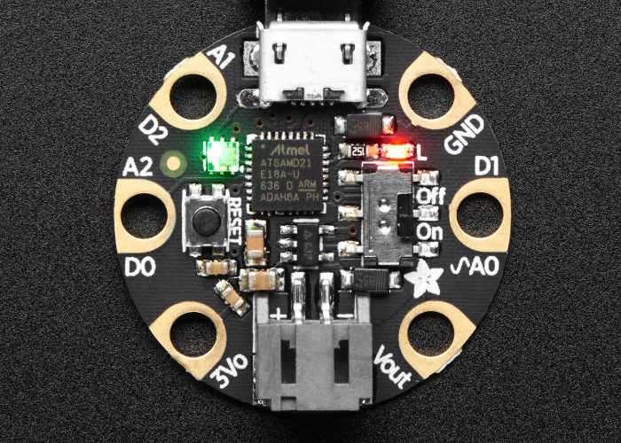 New Adafruit GEMMA M0 Miniature Wearable Development Board