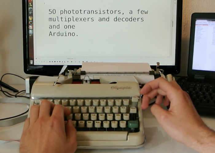 Old Typewriter Transformed Into Digital Keyboard