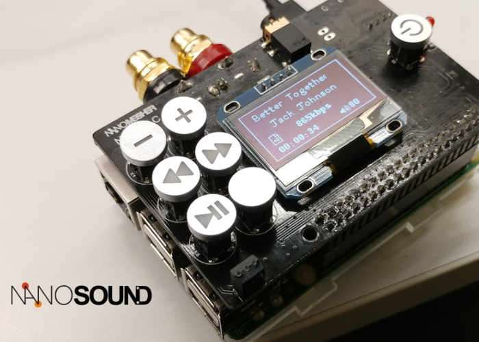 NanoSound Raspberry Pi All-In-One Hifi Audio Board