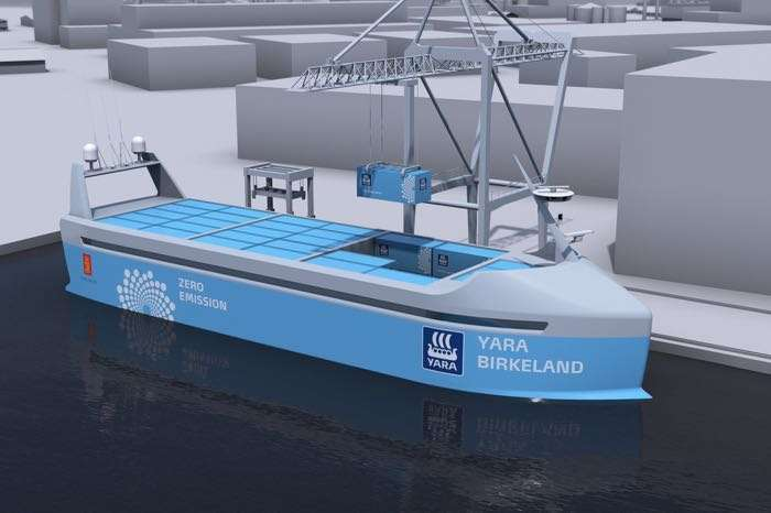 The World's First Crewless (Autonomous) Cargo Ship To Launch Next Year