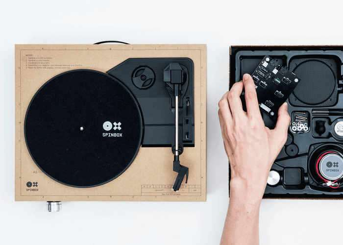 Spinbox Portable Turntable Kit