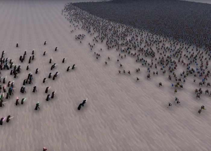 300 Jedi Battle 60,000 Medieval Footsoldiers In Ultimate Epic Battle Simulator (video)