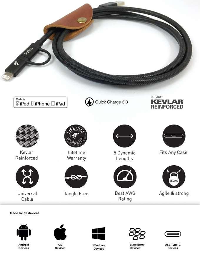 VIVID Kevlar Charging Cable 2