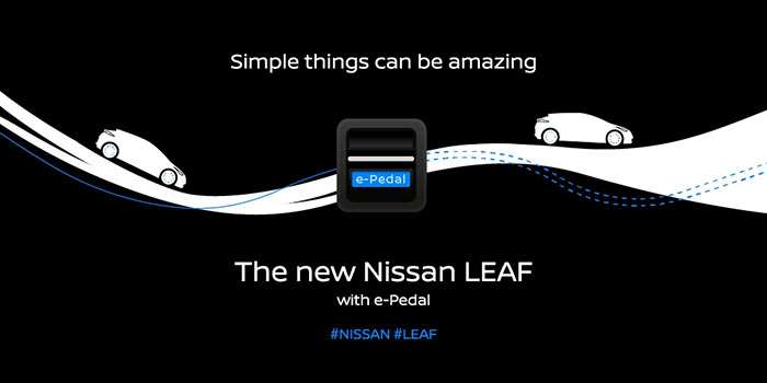 New Nissan Leaf to feature single e-Pedal control