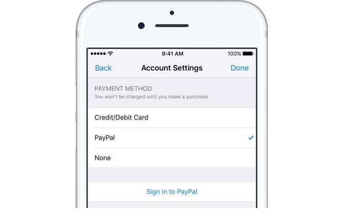 ITunes, Apple Music, App Store Add PayPal Support