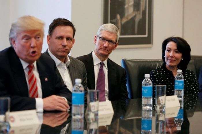 Apple CEO Tim Cook, Donald Trump
