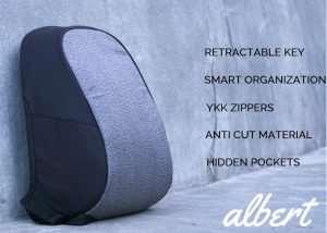 Albert Anti Theft Everyday Backpack (video)