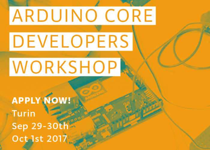 Arduino Core Developers Workshop Registration Now Open