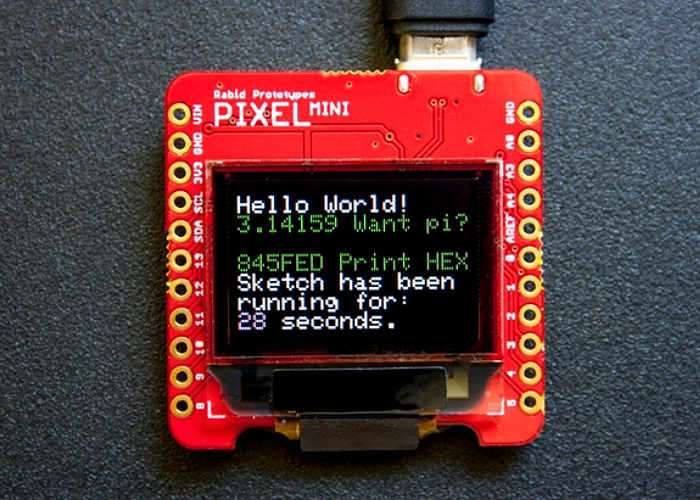 Pixel mini smart arduino oled display video geeky gadgets