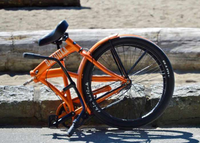 Bazooka Belt Driven Beach Cruiser Folding Bike Video