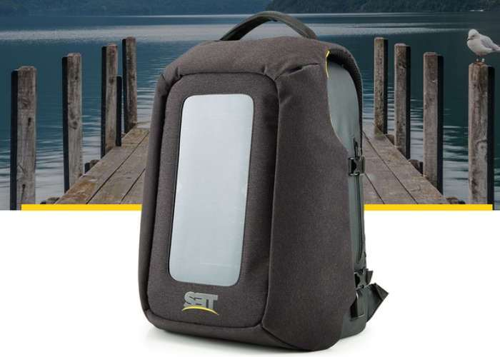 Numi Solar Panel Backpack Keeps Your Devices Charged On