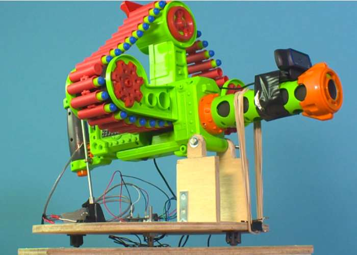 Raspberry Pi Powered Nerf Sentry Gun