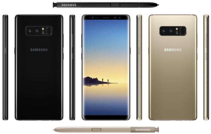 Samsung Galaxy Note 8: Its design confirmed by a promotional image