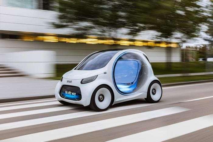 Fully autonomous Smart Vision EQ ForTwo concept revealed