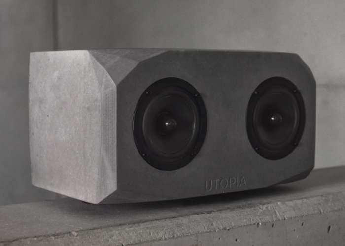 UTOPIA Hand Made Concrete Speaker