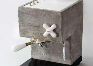 Unique AnZa Concrete Espresso Machine (video)