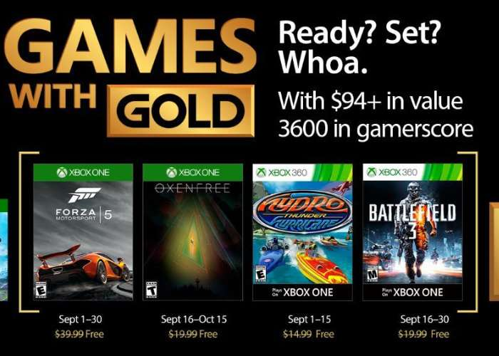 Xbox Live Gold Games September 2017