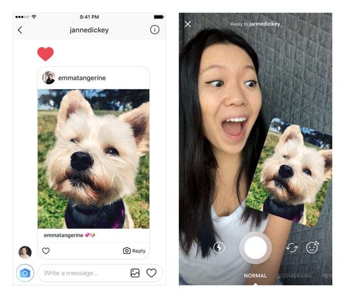 Latest Instagram update brings new options to reply with photos and videos