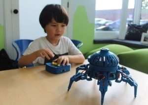 3D Printed Vorpal Hexapod Robot Kit (video)