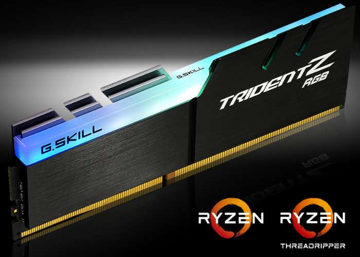 G.Skill AMD Ryzen-Optimized Trident Z RGB DDR4 Memory