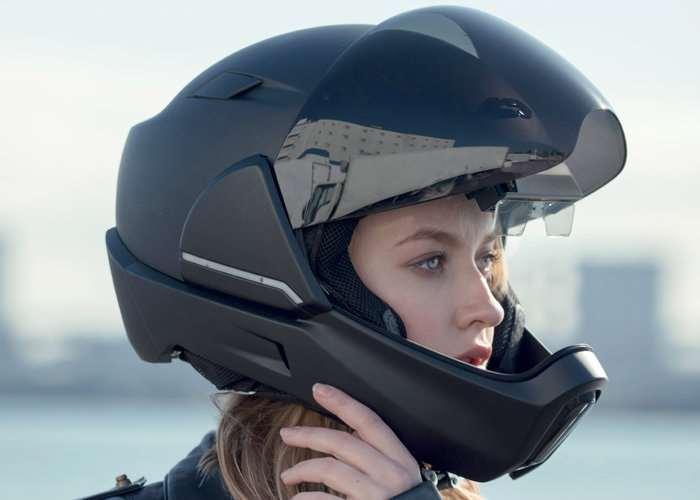 CrossHelmet Smart Motorcycle Helmet (video)