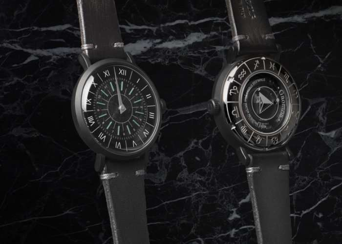 Unique Sundial Inspired Gnomon Watch