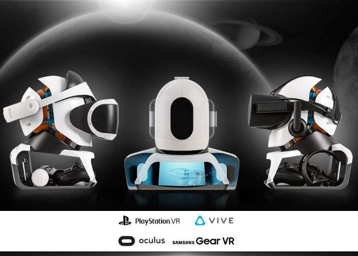 VOYA VR Headset Stand Supports Rift, Vive, PSVR And Gear (video)