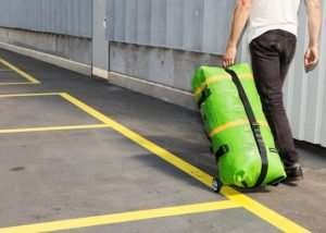 Zippelin Inflatable Travel Bag Constructed From Recycled Truck Tarps (video)