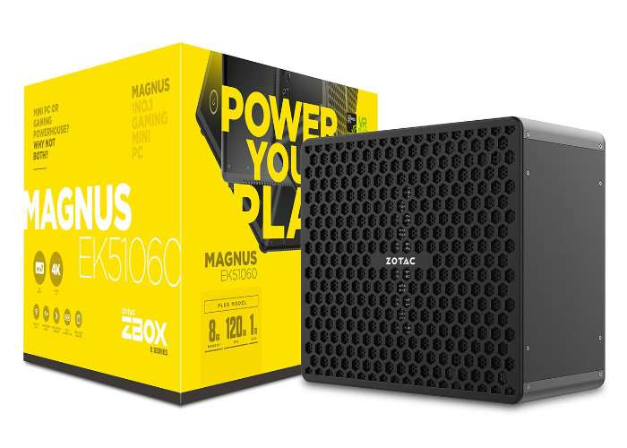 Zotac Zbox EK- and ER-series mini-PCs fit full-size graphics cards