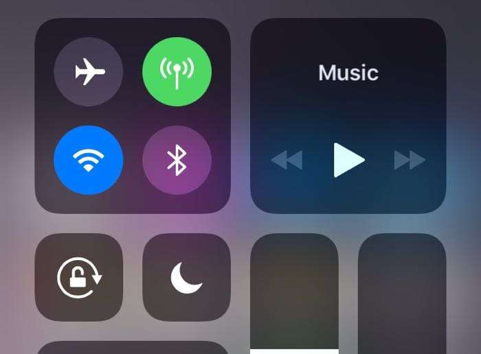 Apple's iOS 11 Control Center Buttons Do Not Fully Disable