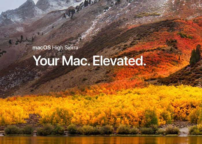 MacOS High Sierra is available for download right now