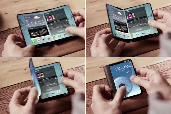 Samsung to release smartphone with foldable displays next year
