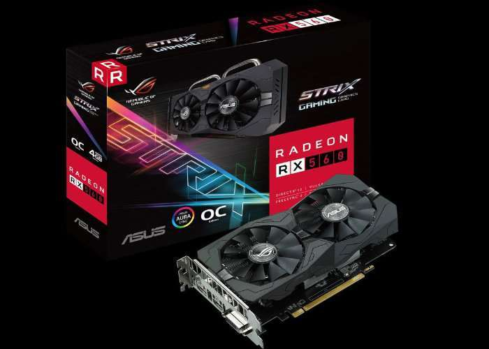 ASUS ROG Strix Radeon RX 560 EVO Graphics Card
