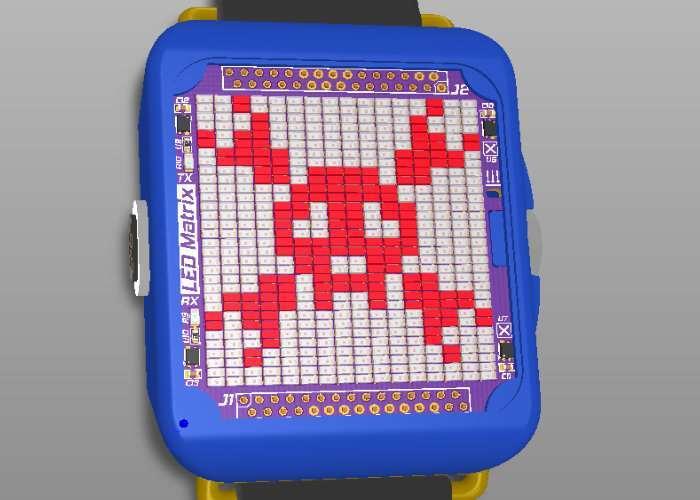 DIY LED Matrix Wristwatch
