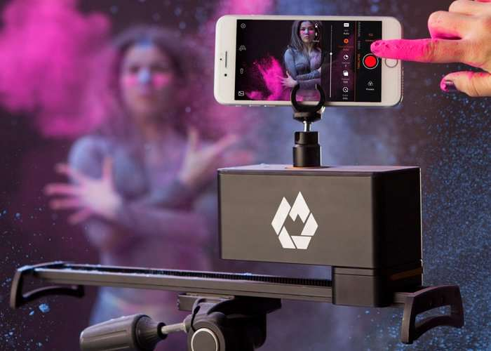 InMotion Camera Slider Supports Action Cameras, Smartphones And More