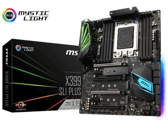MSI X399 SLI Plus AMD Ryzen Threadripper Motherboard