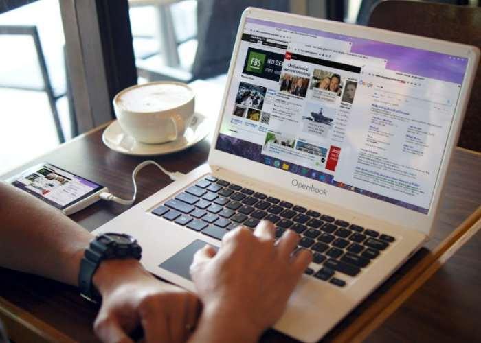 Openbook Smartphone Laptop Docking