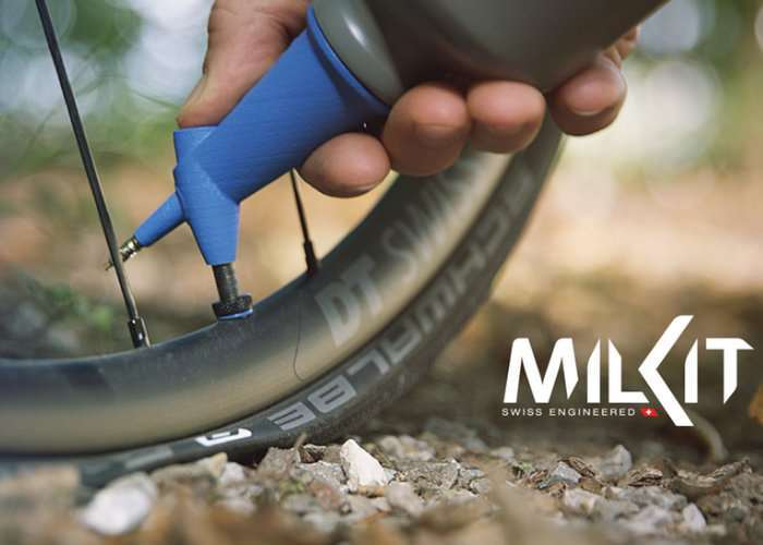 milKit Tubeless Booster Portable Gas Bicycle Pump