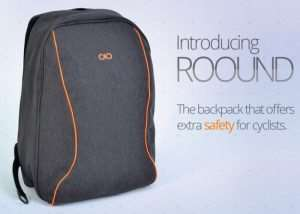 ROOUND Everyday Backpack For Cyclists With Integrated Lights