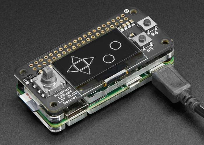 Raspberry Pi Zero OLED Bonnet Pack Launches For $35
