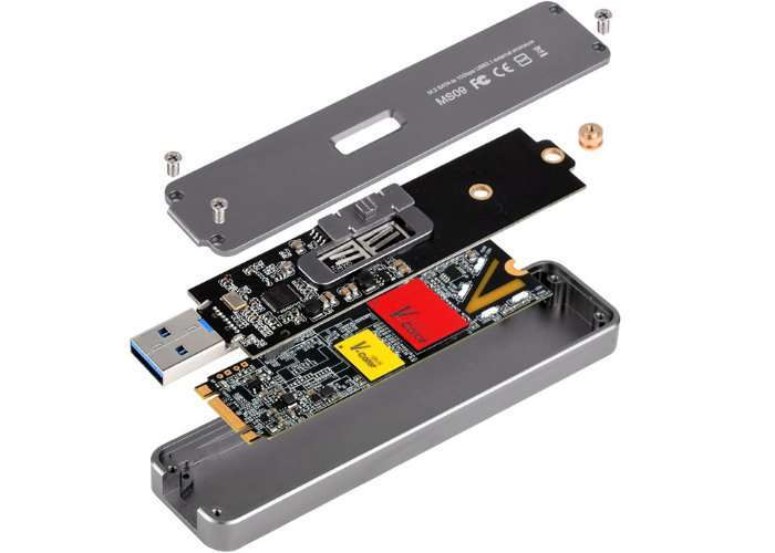 Convert Your M.2 SSDs Into USB 3.1 Flash Drives Using External SilverStone SST-MS09C Enclosure